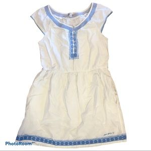 SIlVER JEANS Co. Embroidered white Cotton Dress
